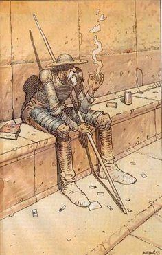 Don Quixote by moebius