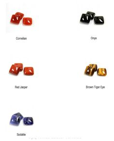 Square Cabochons Cabs 15mm in 5 Gemstone options Cornelian