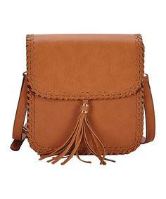 Look at this ANTIK KRAFT Tan Fringe Shoulder Bag on #zulily today!