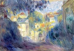 Intercepted by Gravitation | Landscape with Red Roofs Pierre-Auguste Renoir