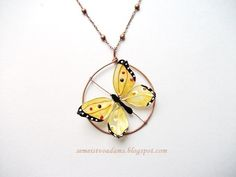 Wire butterfly with nail polish by semeistvoadams.blogspot.com