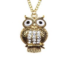 Image of CRYSTAL OWL NECKLACE