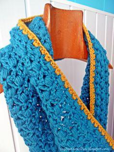 Faz bem aos olhos | Crochet - Crafts - Lifestyle: azul turquesa # a gola