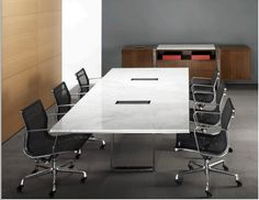 Highline Conference Table & Credenza - A sleek and timeless ganging credenza and table system. Change out materials, finishes, look & feel. Express your vision with a fresh, new toolkit of clean.