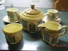 Vintage Cottage Ware Tea Set for 2 Staffordshire England 8 Pieces Total Nice | eBay