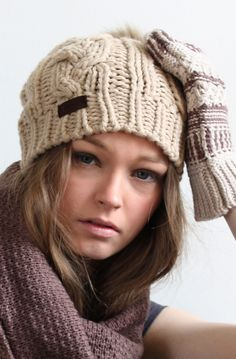 AW13 Warm and Cosy Knit Beanie www.rubyanded.co.uk