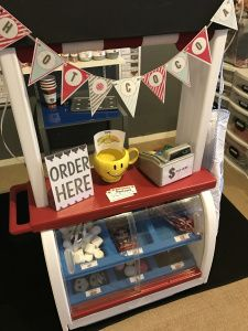 Dramatic Play Center-Hot Cocoa Stand https://dayatb2k.wordpress.com/2017/02/06/dramatic-play-hot-cocoa-shop/