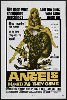 Angels Hard as They Come - Hell on Wheels: Vintage outlaw biker movie posters