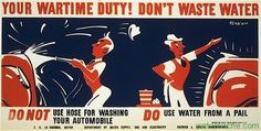 Wartime water conservation poster #4