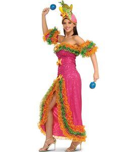 "Carmen Miranda style fruit headpieces (""Benjamin Calypso"")? Use plastic toy fruit? Or cardboard cut out fruit? Pineapples? Bananas?"