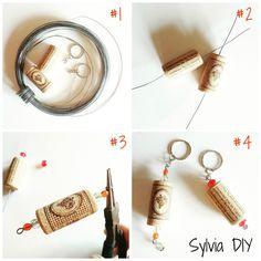 Portachiavi con i tappi di sughero #riciclocreativo #DIY (spiegazioni su @paperprojectit)