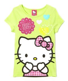 Another great find on #zulily! Green Hearts Hello Kitty Tee - Girls #zulilyfinds