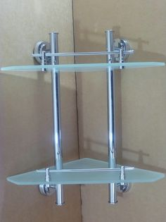 Bathroom glass shelf unit