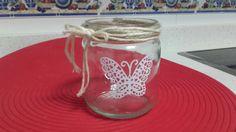 Tarro cristal decorado