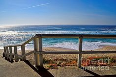 #BEACH #FENCE #OCEAN #VIEW by #Kaye #Menner #Photography Quality Prints Cards at: http://kaye-menner.artistwebsites.com/featured/beach-fence-ocean-view-by-kaye-menner-kaye-menner.html