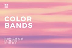 Color Bands. Hazy color bands with vibrant, soft, moody or dusty color transitions.  Use these textures for packaging, fabric printing, gift wrap, wallpaper, notebook and book covers, social media banners, blog headers, Instagram posts, flyers, posters, invitations, stationery, collage, photo layering and masking, within typographic designs etc.  Set includes over 55 design variations and includes tiling textures.