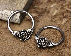 Daith PiercingNipple Ring HoopConch HoopHelix by Purityjewel