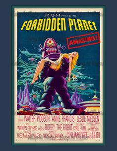 Vintage Science Fiction Movie Poster  by VintageArtMasters on Etsy
