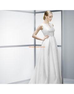 Schlichte Ärmellose A-linie Hochzeitskleider aus Satin- Jesús Peiró