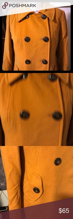 Jessica Peacoat This beautiful chic pea coat by Jessica is ready for a new home purchase and never wear, very warm and comfortable well made completely lined. Size large Jessica Simpson Jackets & Coats Pea Coats