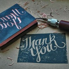 Create your own rubber stamp - I'm so glad I found this now. Christmas cards?