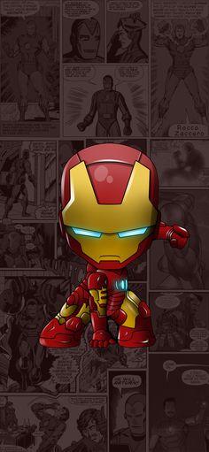 25 Trendy Ideas For Wallpaper Iphone Cartoon Marvel Iron Man Iron Man Kunst, Iron Man Art, Iron Man Wallpaper, Wallpapers Android, Cute Cartoon Wallpapers, Wallpaper Computer, Iphone Wallpaper, Ironman Wallpaper Iphone, Iphone Backgrounds