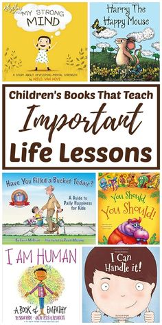 Children's Books That Teach Important Life Lessons! In my many years as a childcare worker, and now as a parent, I've noticed how deeply kids are touched by books with moral lessons. So I've rounded up my favorites! These books are enjoyable & engaging fo Important Life Lessons, Preschool Books, Social Emotional Learning, Teaching Social Skills, Childrens Books, Kid Books, Best Children Books, Baby Books, Good Kids Books