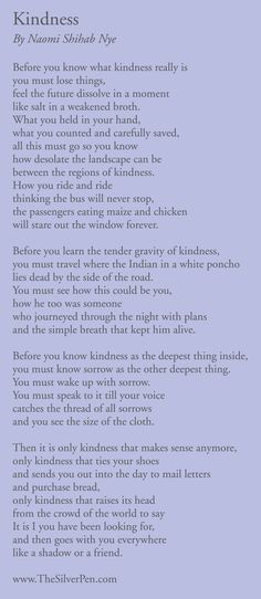 perfection in describing how one gets to kindness