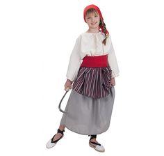 Disfraz de Campesina para Carnaval, evento Medieval, Fiestas, Ferias, Funciones de teatro, ideal para representaciones de navidad.