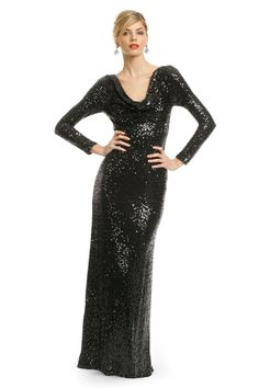Badgley Mischka Sequin Remix Gown $160 (needs a tank or thick necklace of some sort to fill in space)