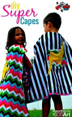 An easy tutorial for How to Make a Child's Cape and a great way to help out others at the same time (make or donate one of these capes today!)