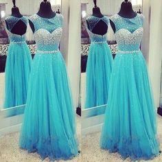 189.99$ Buy now - http://viiri.justgood.pw/vig/item.php?t=n7aajzh23933 - Ice Blue Long Prom Dresses,Cap sleeve Evening Dresses,Party Prom Dress