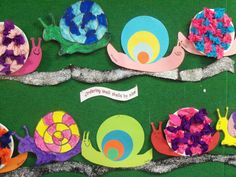 Snail craft Fun Crafts For Kids, Projects For Kids, Art For Kids, Arts And Crafts, Bug Crafts, Garden Crafts, Paper Crafts, First Grade Crafts, Snail And The Whale