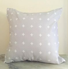 Limited Edition Grey + White Cross Cushion Cover