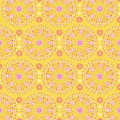 Sunshine Collection - Circle Medallion in Yellow by Dena™ Designs for Free Spirit Fabrics