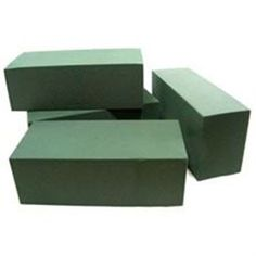 Box of 20 Floral Foam Wet Florists bricks. Quick saturation and low drainage. The foundation of most flower arrangements. Can be taped to plastic dishes with Anchor Tape (see floristry tapes category).
