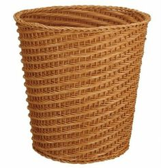 Neu Home White Taper Wicker Wastebasket by Neu Home. $23.00. Material: Wicker. Width: 11.875. Dimensions:. Depth: 11.875. Height:2:212. This White Taper Wicker Wastebasket is both beautiful and durable.