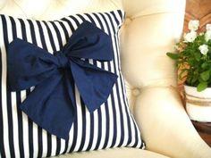 nautical bow pillow