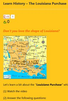 The Louisiana Purchase | Louisiana Purchase, Louisiana and Worksheets