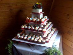 Gerbera Daisy Wedding Cupcake Tree
