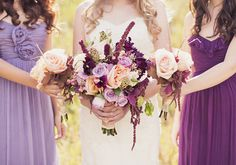 Peach and Plum Wedding Inspiraiton | Real Weddings and Parties | 100 Layer Cake