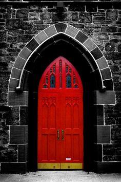 red baize door