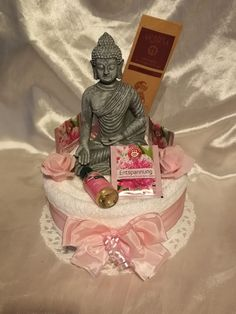 Others - ** Wellness * Towel Cake * Relaxation * Buddha * - a designer piece of . 70th Birthday Cake, Birthday Gifts, Wedding Towel Cakes, Puppy Food, Mom Day, Diy Gifts, Gifts For Women, Presents, Etsy