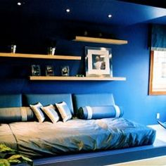 Blue Bedroom For Boys navy walls | kid's bedroom - eslinger realty | pinterest | boy
