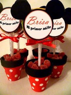 lindos centros de mesa Regalos Mickey Mouse, Mickey Mouse Favors, Theme Mickey, Minnie Y Mickey Mouse, Fiesta Mickey Mouse, Mickey Mouse Baby Shower, Baby Mickey, Baby Mouse, Mickey Party