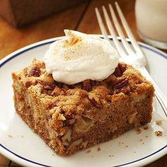 Fresh Apple Cake | This nutty comfort cake from Sharon Buckner of Rhineland, Missouri, gets a sugary top and caramelized gooey bottom as it cooks. Don't be surprised by the thick batter; it will bake into a moist, dense cake.