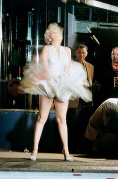 Marilyn Monroeon on the set of The Seven Year Itch by Elliott...