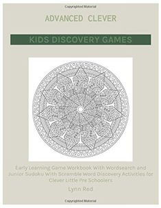 Early Learning Game Workbook With Wordsearch and Junior Sudoku With Scramble Word Discovery Activities for Clever Little Pre Schoolers