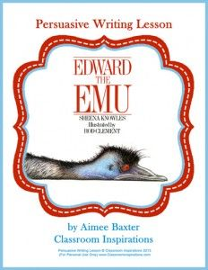Edward the Emu Persuasive Writing Lesson. Students will write an opinion on which animal is the best animal in the zoo. Students need to give evidence to explain their opinions. Great introduction to Persuasive writing. Persuasive Letter, Persuasive Writing Prompts, Writing Topics, Essay Writing, Writing A Book, Persuasive Texts, Writing Ideas, Writing Rubrics, Paragraph Writing