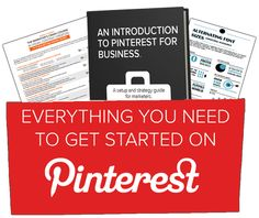 Everything You Need to Know to Get Started With Pinterest for Business. For unique promoting/marketing/advertising ideas & expert support for your business in pinterest, please visit....... www.pinific.com